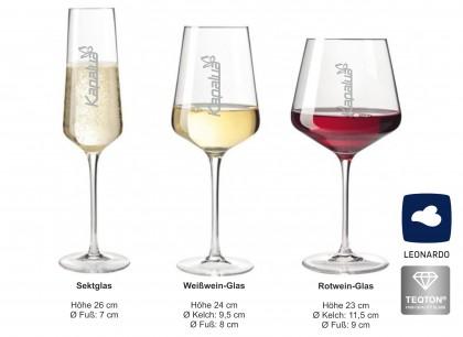 Gläser mit Gravur